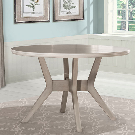 Elder Park Round Wood-Top Dining Table