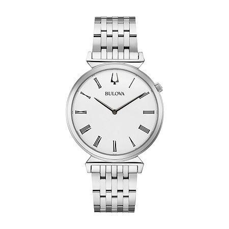Bulova Regatta Mens Silver Tone Stainless Steel Bracelet Watch - 96a232, One Size