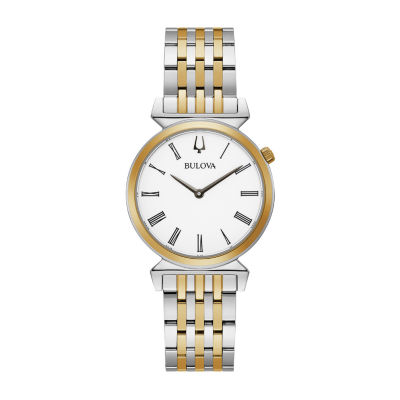 Bulova Regatta Womens Two Tone Stainless Steel Bracelet Watch-98l264