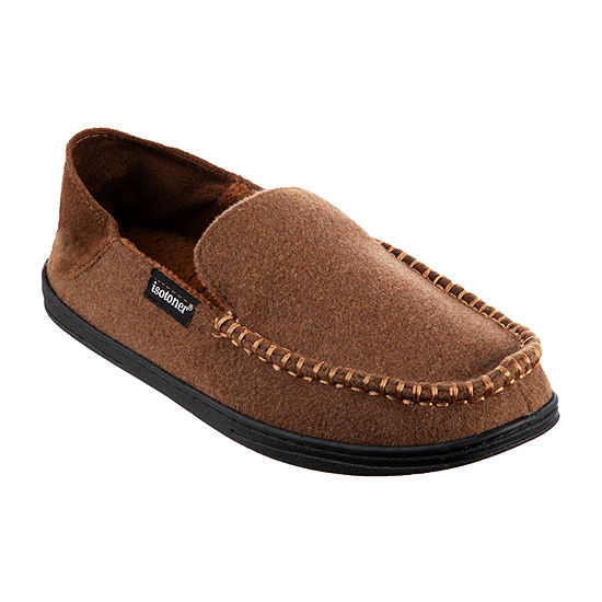 Isotoner® Grady Moccasin Slippers with Collapsible Heel