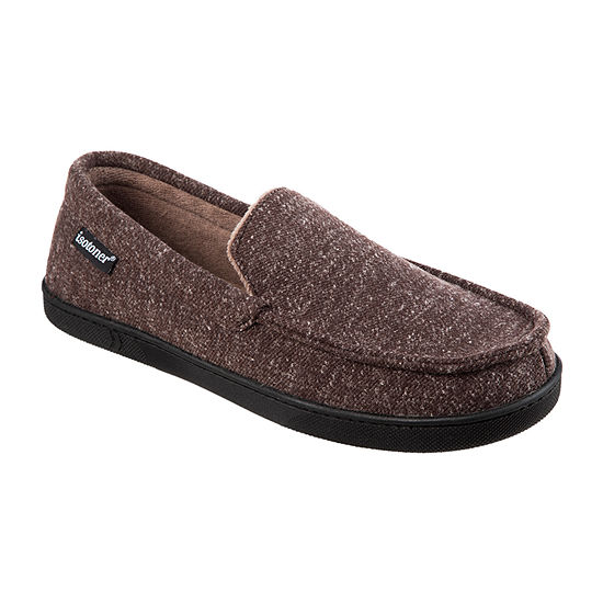 isotoner® Heather Knit Preston Moccasin Slippers