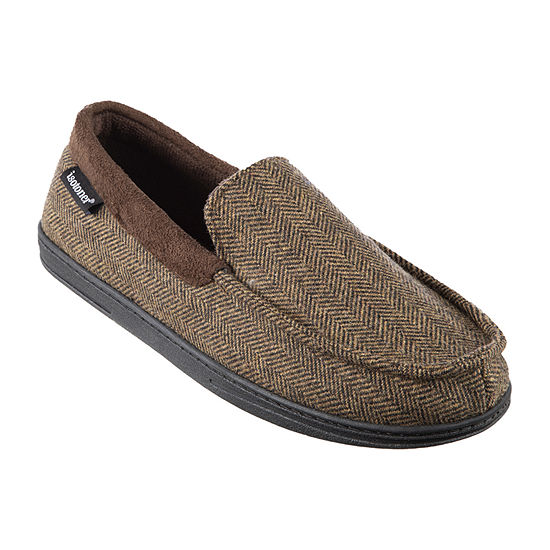 isotoner® Herringbone Logan Moccasin Slippers