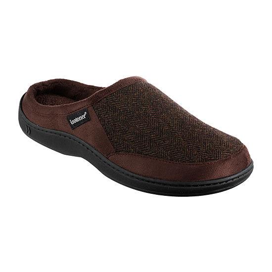 isotoner® Herringbone Logan Hoodback Slippers