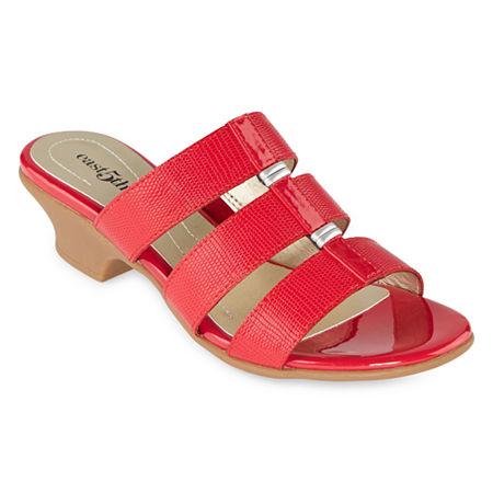 Vintage Shoes in Pictures | Shop Vintage Style Shoes east 5th Womens Elda Heeled Sandals 6 12 Wide Red $41.25 AT vintagedancer.com