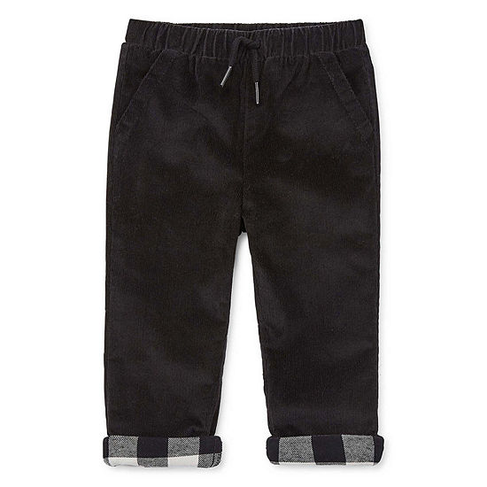 Okie Dokie Boys Mid Rise Cuffed Corduroy Pant - Baby