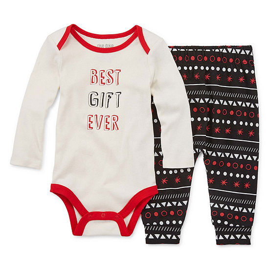 Okie Dokie Baby Unisex 2-pc. Bodysuit Set
