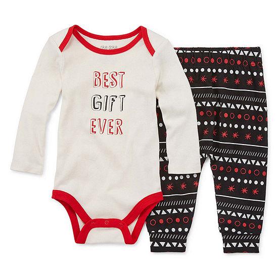Okie Dokie Unisex 2-pc. Bodysuit Set-Baby