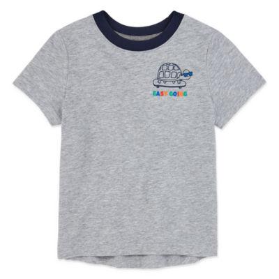 Okie Dokie-Toddler Boys Short Sleeve T-Shirt