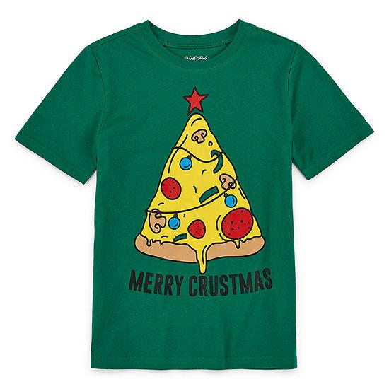 North Pole Trading Co. Christmas Boys Crew Neck Short Sleeve T-Shirt Preschool / Big Kid