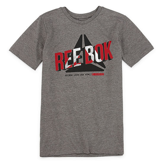Reebok Boys Crew Neck Short Sleeve Graphic T-Shirt - Big Kid