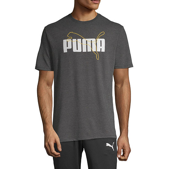 Puma Lined Up Mens Crew Neck Short Sleeve T-Shirt