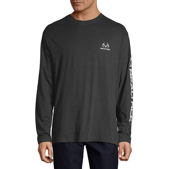 Realtree Mens Crew Neck Long Sleeve Graphic T-Shirt