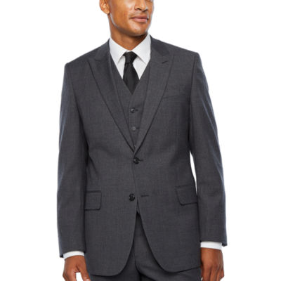 Stafford Travel Stretch Mens Striped Classic Fit Suit Jacket