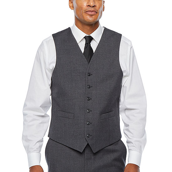 Stafford Travel Stretch Mens Striped Classic Fit Suit Vest