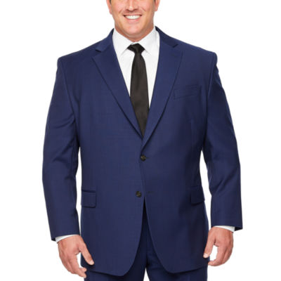 Stafford Super Suit Mens Striped Classic Fit Suit Jacket-Big and Tall