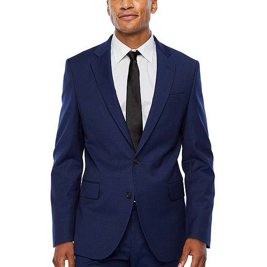 Stafford-Super Striped Slim Fit Suit Jacket