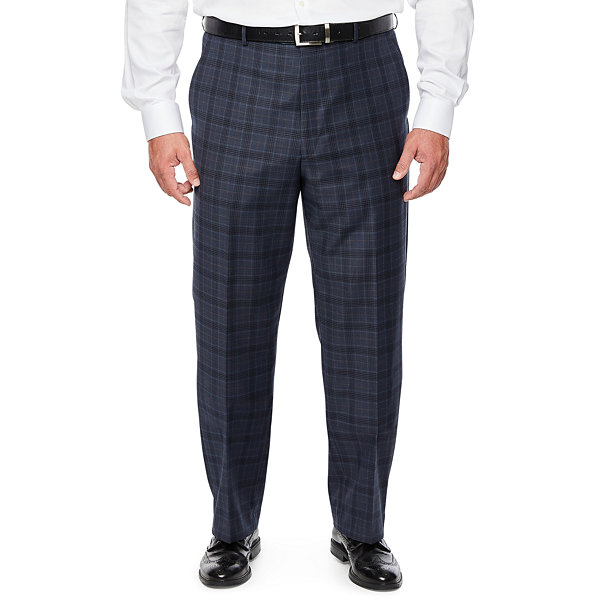 Stafford Super Plaid Stretch Suit Pants