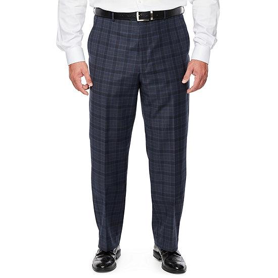 Stafford Super Plaid Stretch Suit Pants