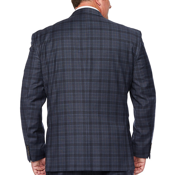 Stafford Super Suit Plaid Stretch Suit Jacket