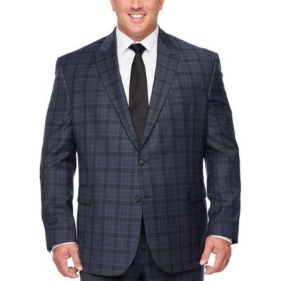 Stafford Super Suit Plaid Stretch Suit Jacket