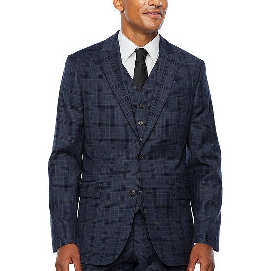 Stafford Super Plaid Stretch Suit Jacket