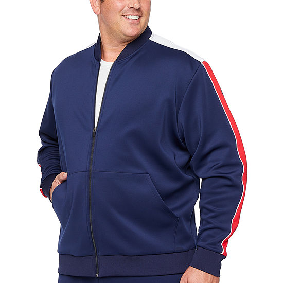 The Foundry Big & Tall Supply Co. Midweight Track Jacket Big and Tall