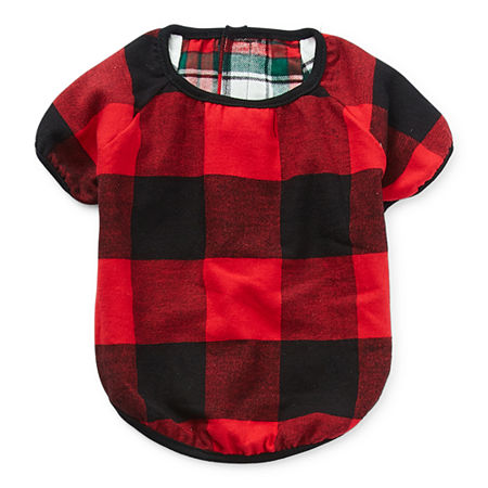 North Pole Trading Co. Reversible Plaid Pet Clothes, Medium-large , Red