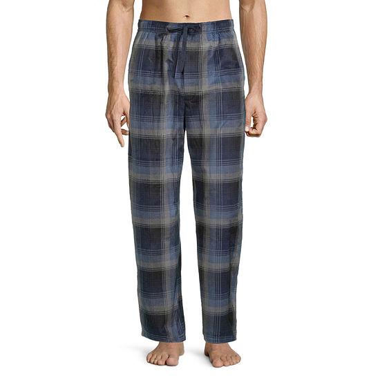 St. John's Bay Mens Fleece Rolled Pajama Pants