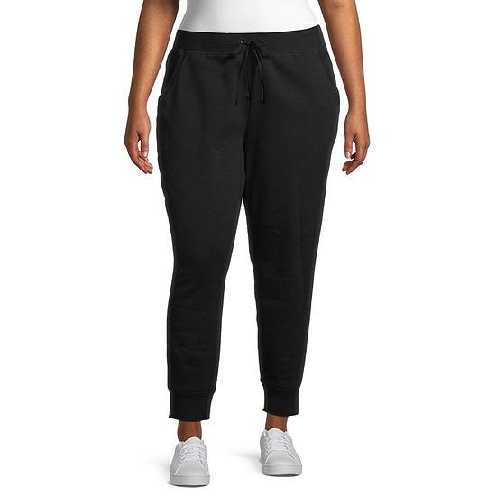 St. John's Bay Womens Mid Rise Jogger Pant-Plus