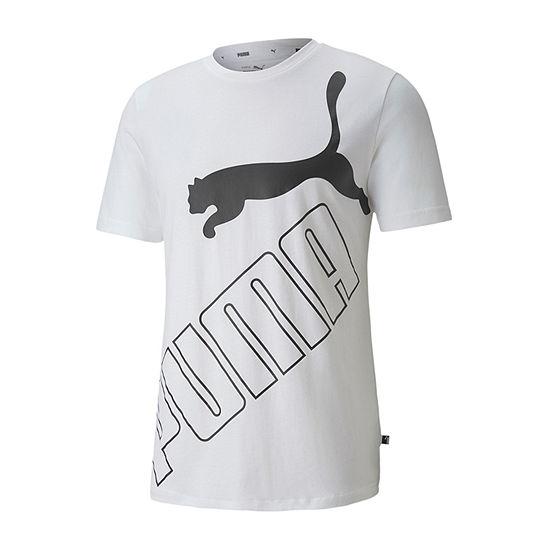 Puma Big Logo Mens Crew Neck Short Sleeve T-Shirt