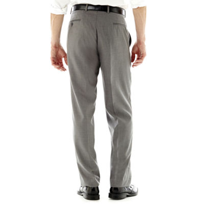 Men's JF J. Ferrar® Gray Sharkskin Flat-Front Classic Fit Suit Pants