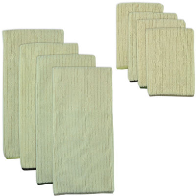 Natural Trim 8-pc. Dish Towel and Dishcloth Set