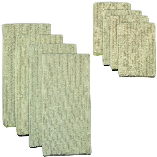 Natural Trim 8 Pc Dish Towel And Dishcloth Set