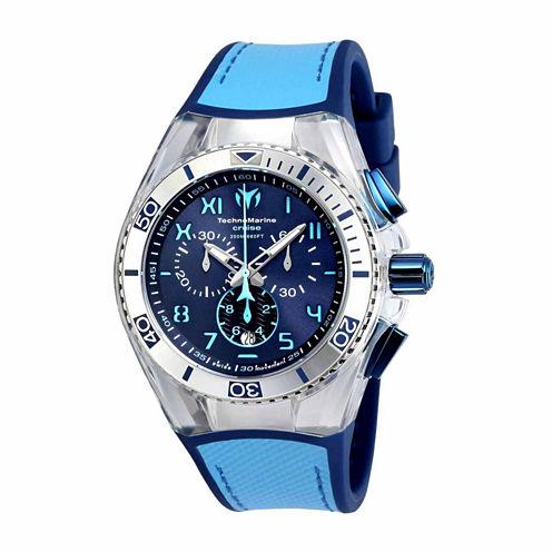 Techno Marine Mens Blue Strap Watch-Tm-115069