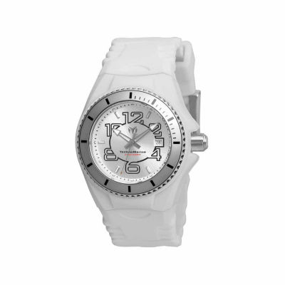Techno Marine Womens White Strap Watch-Tm-115124