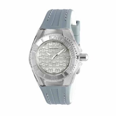 Techno Marine Womens Gray Strap Watch-Tm-115157