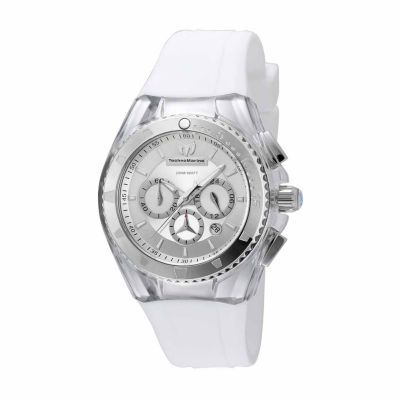 Techno Marine Womens White Strap Watch-Tm-115171