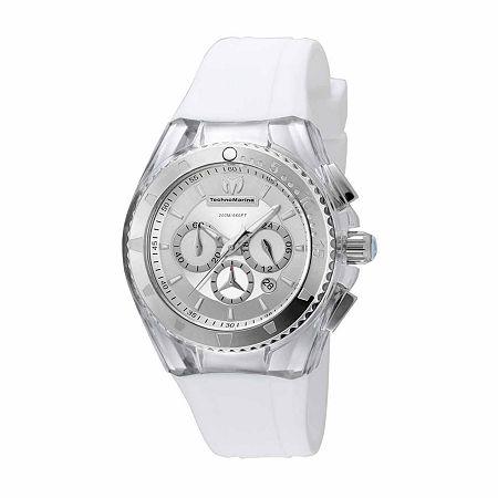 Techno Marine Womens White Strap Watch-Tm-115171, One Size