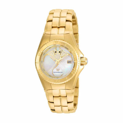Techno Marine Womens Gold Tone Bracelet Watch-Tm-115189