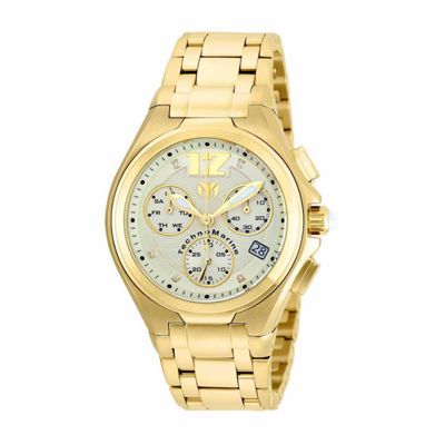 Techno Marine Mens Gold Tone Bracelet Watch-Tm-215015