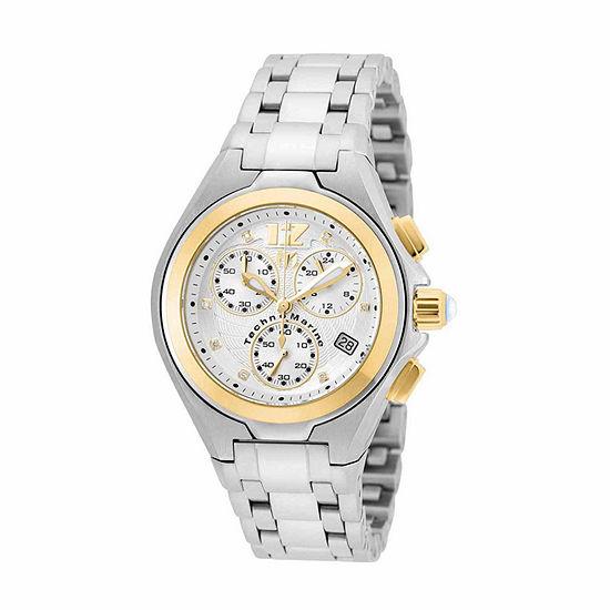 Techno Marine Womens Silver Tone Stainless Steel Bracelet Watch-Tm-215024