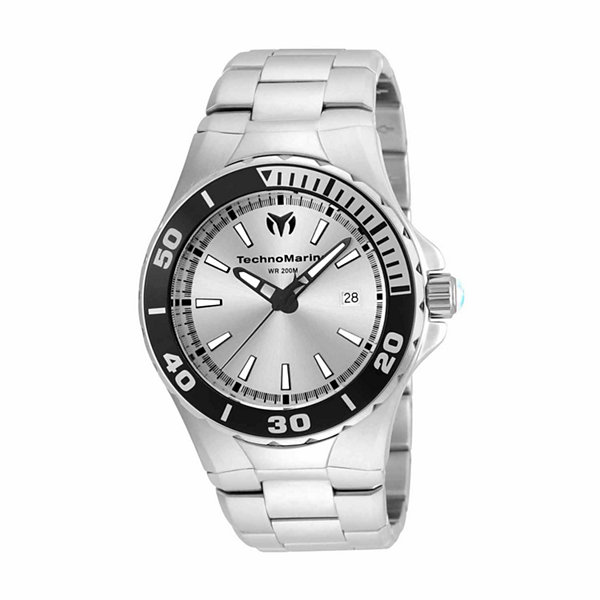 Techno Marine Mens Silver Tone Bracelet Watch-Tm-215048