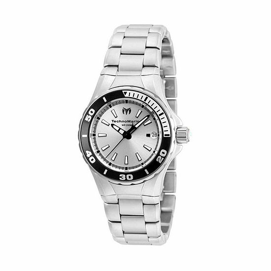 Techno Marine Womens Silver Tone Stainless Steel Bracelet Watch-Tm-215060