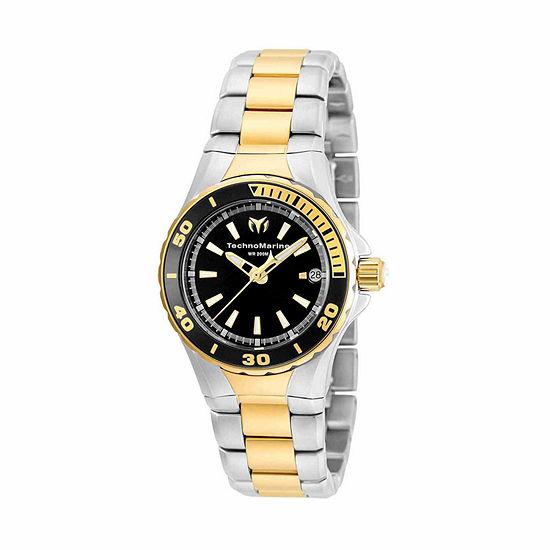 Techno Marine Womens Two Tone Stainless Steel Bracelet Watch-Tm-215061
