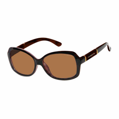 Liz Polarized Rectangular UV Protection Sunglasses-Womens
