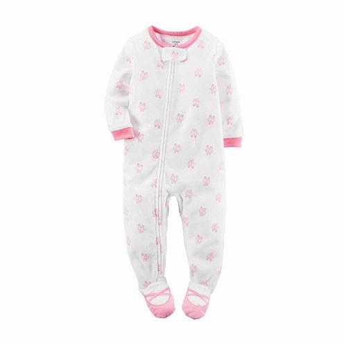 Carter's® Ivory Ballerina Fleece Pajamas - Baby Girls newborn-24m
