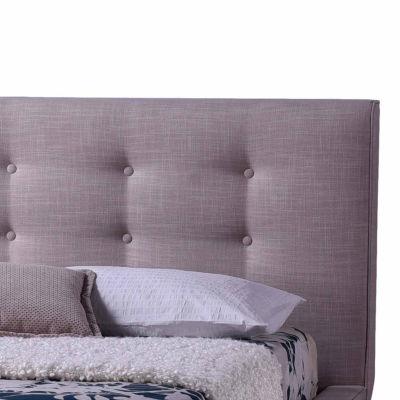 Baxton Studio Jonesy Mid-Century Upholstered Platform Bed