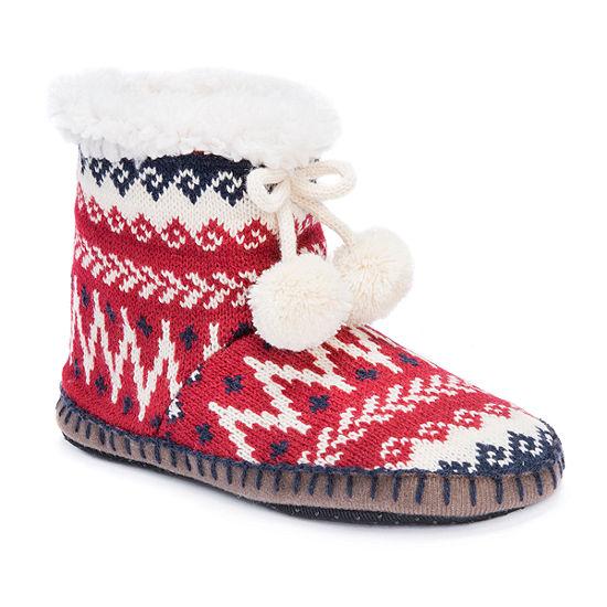 Muk Luks Womens Bootie Slippers