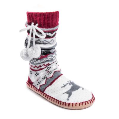 Muk Luks Slipper Socks With Poms