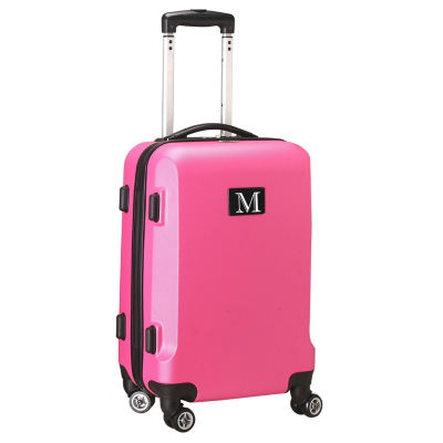 """Personalized Initial Name letter """"M"""" 20 inches Carry on Hardcase Spinner Luggage by Mojo"""""""